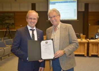 dr wassenaar awarded certificate of merit by mayor of williams lake british columbia